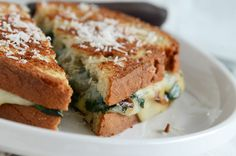 spinach mozzarella grilled cheese