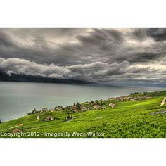 Moody clouds over Chexbres, Switzerland. Photo taken by Wade Walker. Country Of Origin, Switzerland, Vineyard, Places To Go, Beautiful Places, About Me Blog, Photograph, Around The Worlds, Clouds