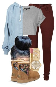 """629"" by tuhlayjuh ❤ liked on Polyvore featuring French Connection, Topshop, Vince Camuto, Michael Kors and UGG Australia"