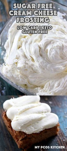 Sugar Free Cream Cheese Frosting - A delicious low carb frosting that can be used on any type of cake! My PCOS Kitchen #keto #lowcarb #creamcheesefrosting #sugarfree #lchf #frosting #cakefrosting via @mypcoskitchen