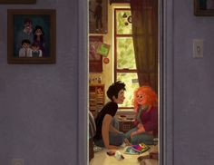 Eleanor and Park hanging out. From Eleanor & Park by Rainbow Rowell. Artwork by Simini Blocker. Eleanor And Park Movie, Eleanor Und Park, Fanart, Hush Hush, Good Books, My Books, Anne With An E, Rainbow Rowell, Character Sketches