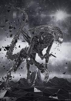 Alien by franz--franz Alien Vs Predator, Predator Art, Alien Origin, Giger Alien, Alien Isolation, Profile Wallpaper, Alien Queen, Beauty In Art, Animal Costumes