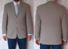 a49564e3f Hugo Boss blazer / Boss suit jacket / light gray color Boss blazer / Hugo  Boss