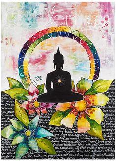 Giclée/reproduction Bouddha 4 par MarikaLemayArtiste sur Etsy