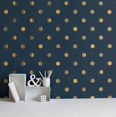 moon crescents wallpaper by wall-library | notonthehighstreet.com