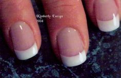 Pink and White Sculpted Acrylic Nail by Kim Ensign  very natural looking. Pretty!