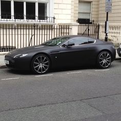Matte black Aston Martin Vanquish. Photo doesn't really do bodywork justice
