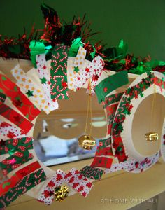 Super Easy Paper Plate Christmas Wreaths
