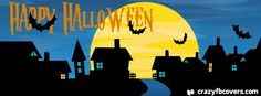 Bats Happy Halloween Facebook Cover - Facebook Timeline Cover Photo - Fb Cover