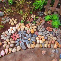 30 Wonderful DIY ideas with stone flower beds - All For Garden Landscaping With Rocks, Front Yard Landscaping, Landscaping Ideas, Mulch Landscaping, Inexpensive Landscaping, Walkway Ideas, Garden Crafts, Garden Art, Garden Ideas