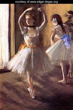 Two Dancers in the Studio I - Edgar Degas - www.edgar-degas.org