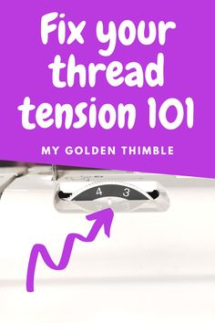 How to balance your Thread Tension - - Fix all the Sewing Machine Tension issues and problems by getting to know your tension dial and how to make the proper adjusments. Easy step by step tut. Sewing Machine Basics, Sewing Machine Tension, Sewing Machine Repair, Sewing Machine Thread, Sewing Stitches, Sewing Basics, Sewing Hacks, Sewing Tutorials, Sewing Patterns
