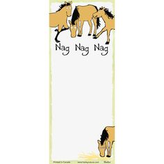 This printed notepad with magnet backing makes it easy to stick to your fridge! Great for writing out grocery lists and must-do jobs/ Equestrian Gifts, Grocery Lists, Magnets, Horse, Writing, Prints, Cards, Shopping Lists, Horses