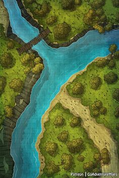 GoAdventureMaps is creating Maps for Dungeons and Dragons & other TTRPGs Dnd World Map, Fantasy World Map, Dungeons And Dragons Homebrew, D&d Dungeons And Dragons, Medieval, Forest Map, Forest River, Pathfinder Maps, Rpg Map