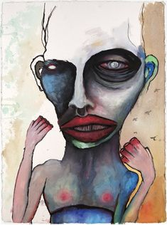 man who eats his fingers (self-portrait) - marilyn manson