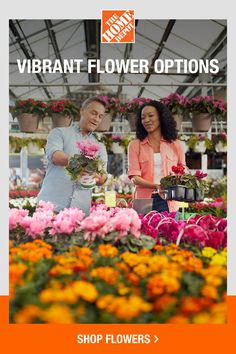Grow beautiful flowers with products from The Home Depot. Add a pop of color to your outdoor space by planting vibrant flowers. With plants, pots, tools and more, The Home Depot can deliver a better backyard garden to your doorstep. Click to shop now.