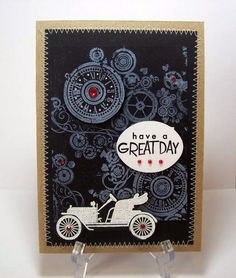 Steampunk Card with Antique Auto