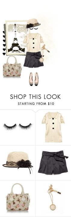 """""""Shy Girl in Paris"""" by stormbattereddragon ❤ liked on Polyvore featuring Milly, Fendi, D_Luxe and Giambattista Valli"""