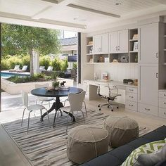 Home Office Opens to Backyard