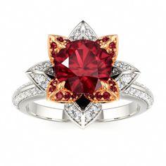 Ruby Engagement Ring #ruby #engagement #ring
