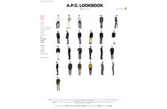 A.P.C. HOMME/LOOK BOOK