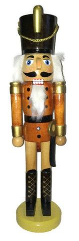 "Unique, fun Pilgrim with Pitchfork! - Wood and cloth design - Perfect size at 10 1/2"" tall - Unique and fun, this little Pilgrim nutcracker will make a perfect gift! Measures 10 1/2"" tall."