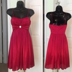 MORGAN 4EVER RED DRESS LOOKS GREAT. WORN ONCE. Morgan 4 Ever Dresses Mini