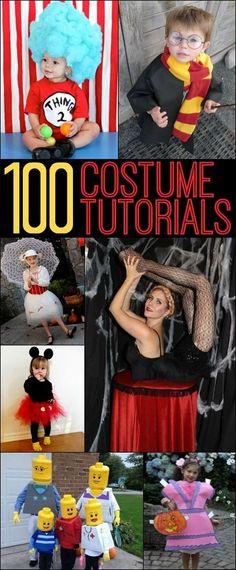 100 Halloween Costume Tutorials