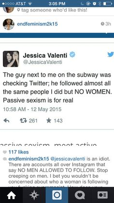 When you know feminism has run out of reasons to exist...  Antifeminist #womenagainstfeminism
