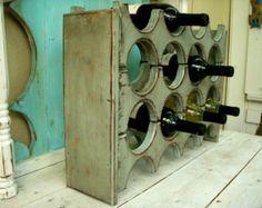 Handmade Wooden Wine Rack Smaller Size Holds by honeystreasures