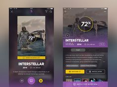 Movie App UI by Aaron Humphreys for Tappable