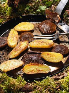 Poêlé de champignons et pommes de terre