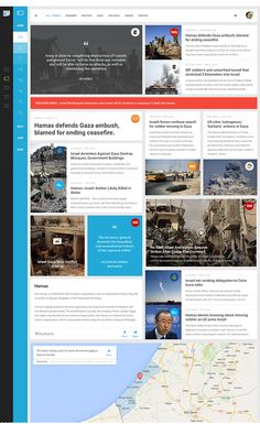 Functional and visual redesign of Google News on Behance