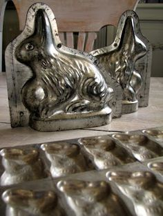 Antique French Chocolate Moulds from the Drill Hall Emporium