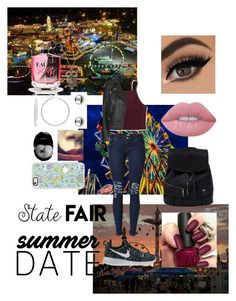"""State fair"" by jordanmatute ❤ liked on Polyvore featuring NIKE, Aéropostale, Topshop, Lime Crime, Victoria's Secret, Sterling Essentials, Accessorize, Casetify, statefair and summerdate"