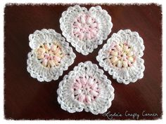 Ravelry: Sweet Lacy Hearts pattern by Linda Solaiman.  Free