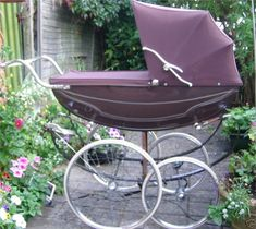 Marmet President pram. Guess That Means Something Like, Purple Baby Carriage.
