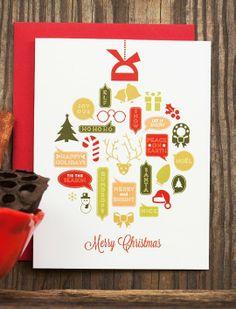 Cute Christmas Handmade Greeting Card, Greeting Cards For Holiday Christmas #handmade #christmas #greeting #cards www.loveitsomuch.com