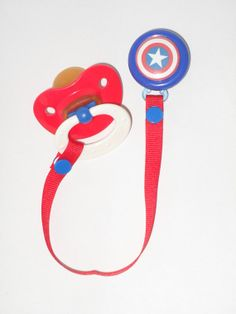 Hey, I found this really awesome Etsy listing at http://www.etsy.com/listing/119679158/captain-america-pacifier-clip
