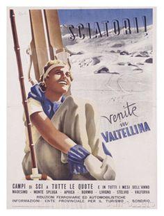 Valtellina, Sciatori    #TuscanyAgriturismoGiratola