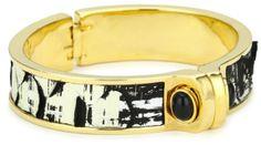 Amazon.com: KARA by Kara Ross Gold with Ximo Python and Onyx Cuff Bracelet: Jewelry