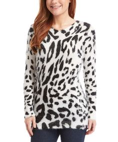 This Black Leopard Sweater is perfect! #zulilyfinds