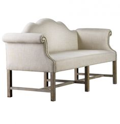 French Linen Settee 73 | Zin Home