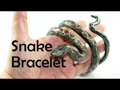 Snake bracelet (and stamp for snake's skin) - polymer clay TUTORIAL - YouTube