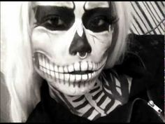 Zombie Skeleton Makeup - inspired