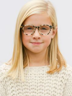 Love our Paige Cream Tortoise look. #childrenseyewear #jonaspauleyewear