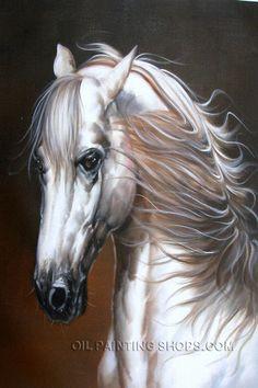 "Lovely Framed Wall Art Cheap Animal Painting Horse, Size: 24"" x 36"", $117. Url: http://www.oilpaintingshops.com/lovely-framed-wall-art-cheap-animal-painting-horse-3034.html"