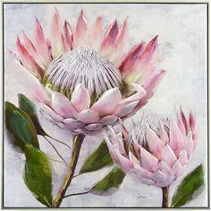 Pretty Protea Framed Painting on Canvas East Urban Home Art Floral, Flower Graphic, Graphic Art, Protea Art, Protea Flower, Canvas Artwork, Artwork Prints, Canvas Prints, Fleur Protea