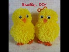 Pompom chick & bunny tutorial, My Crafts and DIY Projects