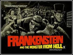 Frankenstein and the Monster from Hell quad movie poster